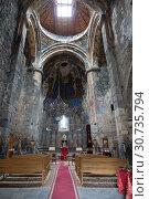 Купить «The interior of the Church of the Holy virgin in the monastery of Akhtala, Lori region, Armenia», фото № 30735794, снято 27 сентября 2018 г. (c) Наталья Волкова / Фотобанк Лори