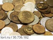 Купить «Советские, металлические деньги разных лет», эксклюзивное фото № 30736182, снято 15 апреля 2019 г. (c) Игорь Низов / Фотобанк Лори