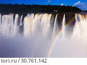 Купить «Garganta del Diablo waterfall on Iguazu River», фото № 30761142, снято 16 февраля 2017 г. (c) Яков Филимонов / Фотобанк Лори