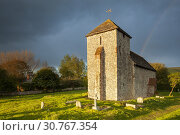 Купить «Spring evening at the Saxon church of St Botolph near Steyning, West Sussex, England.», фото № 30767354, снято 4 мая 2019 г. (c) age Fotostock / Фотобанк Лори