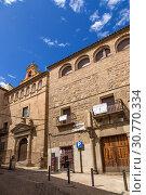 Купить «Толедо, Испания. Фасад старых зданий», фото № 30770334, снято 25 июня 2017 г. (c) Rokhin Valery / Фотобанк Лори