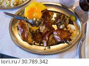 Купить «Top view of chopped grilled chicken», фото № 30789342, снято 25 мая 2019 г. (c) Яков Филимонов / Фотобанк Лори