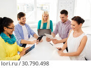 Купить «creative team with table computers in office», фото № 30790498, снято 17 мая 2014 г. (c) Syda Productions / Фотобанк Лори