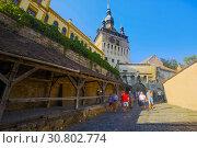 Купить «Image of Clock tower in Sighisoara», фото № 30802774, снято 16 сентября 2017 г. (c) Яков Филимонов / Фотобанк Лори