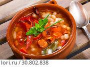 Купить «Bulgarian dish Bob chorba», фото № 30802838, снято 27 июня 2019 г. (c) Яков Филимонов / Фотобанк Лори