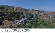 Древняя крепость в Дербенте. Дагестан. Видео с дрона. (2016 год). Стоковое видео, видеограф kinocopter / Фотобанк Лори