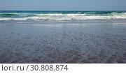 Sandy beach at low tide. Стоковое фото, фотограф Яков Филимонов / Фотобанк Лори