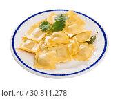 Купить «Traditional Italian ravioli», фото № 30811278, снято 21 августа 2019 г. (c) Яков Филимонов / Фотобанк Лори