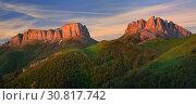 Купить «Dawn in mountains», фото № 30817742, снято 13 июня 2016 г. (c) александр жарников / Фотобанк Лори