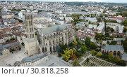 Купить «Famous gothic cathedral in Limoges city in France, Europe», видеоролик № 30818258, снято 26 октября 2018 г. (c) Яков Филимонов / Фотобанк Лори