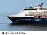Купить «Cruise Liner Celebrity Millennium sailing in cold water of Pacific Ocean», фото № 30818262, снято 2 мая 2019 г. (c) А. А. Пирагис / Фотобанк Лори