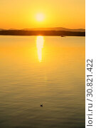 Купить «Sea landscape. Summer sunny water scene. Sea harbor in soft evening sunlight», фото № 30821422, снято 22 августа 2013 г. (c) Зезелина Марина / Фотобанк Лори