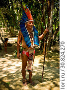 Indian, Dessano Tribe, Tupé Community, Manaus, Amazônia, Amazonas, Brazil. Стоковое фото, фотограф Aleruaro / age Fotostock / Фотобанк Лори