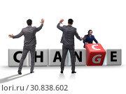 Купить «Businessman in change and chance concept», фото № 30838602, снято 13 декабря 2019 г. (c) Elnur / Фотобанк Лори