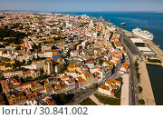 Historical areas of Lisbon with Cathedral on Tagus river (2019 год). Стоковое фото, фотограф Яков Филимонов / Фотобанк Лори