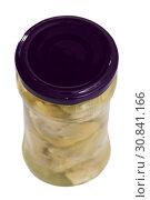Купить «Jar of marinated artichokes», фото № 30841166, снято 20 июня 2019 г. (c) Яков Филимонов / Фотобанк Лори