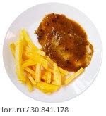 Купить «Top view of Carne mechada», фото № 30841178, снято 8 апреля 2020 г. (c) Яков Филимонов / Фотобанк Лори