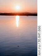 Купить «Sea landscape. Summer sunny water scene. Sea harbor in soft evening sunshine», фото № 30841666, снято 22 августа 2013 г. (c) Зезелина Марина / Фотобанк Лори