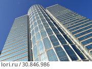 42-этажный небоскреб (172 метра). Бизнес-центр «Нордстар-Тауэр». Беговая улица, 3, строение 1. Район Хорошевский. Город Москва (2015 год). Редакционное фото, фотограф lana1501 / Фотобанк Лори