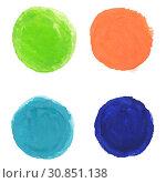 Купить «Watercolor Blobs, Vector Illustration», фото № 30851138, снято 10 апреля 2020 г. (c) easy Fotostock / Фотобанк Лори
