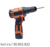 Купить «Cordless drill screw gun», фото № 30852822, снято 24 мая 2019 г. (c) Мельников Дмитрий / Фотобанк Лори
