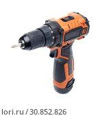 Купить «Cordless drill screw gun», фото № 30852826, снято 24 мая 2019 г. (c) Мельников Дмитрий / Фотобанк Лори