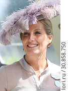 Royal Ascot, United Kingdom, Portrait of HRH Sophie, The Countess of Wessex (2018 год). Редакционное фото, агентство Caro Photoagency / Фотобанк Лори