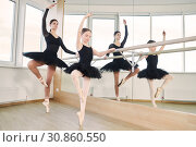 ballet dancer training little ballerina girl. Стоковое фото, фотограф Дмитрий Калиновский / Фотобанк Лори