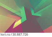 Abstract colorful low poly pattern. Стоковая иллюстрация, иллюстратор EugeneSergeev / Фотобанк Лори