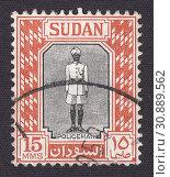 Купить «Полицейский,коренные мотивы. Почтовая марка Судана 1951 года», иллюстрация № 30889562 (c) александр афанасьев / Фотобанк Лори