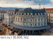 Купить «View on roof of houses in Valence in France», фото № 30895162, снято 7 декабря 2017 г. (c) Яков Филимонов / Фотобанк Лори