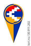Artsakh map pointer pin icon location flag marker. Стоковое фото, фотограф YAY Micro / easy Fotostock / Фотобанк Лори
