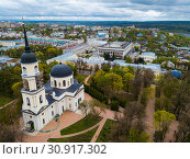 Aerial view of Trinity Cathedral in Kaluga (2019 год). Стоковое фото, фотограф Яков Филимонов / Фотобанк Лори