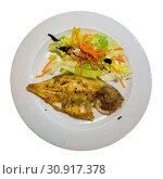Купить «Grilled dorada with salad», фото № 30917378, снято 23 июля 2019 г. (c) Яков Филимонов / Фотобанк Лори