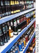 Купить «Image of great variety bottled alcohol drink», фото № 30925254, снято 11 апреля 2018 г. (c) Яков Филимонов / Фотобанк Лори