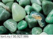 Aventurine gem stone as natural mineral rock specimen. Стоковое фото, фотограф YAY Micro / easy Fotostock / Фотобанк Лори