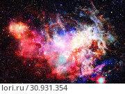 Купить «Nebula and stars in deep space. Elements of this image furnished by NASA.», фото № 30931354, снято 27 мая 2020 г. (c) easy Fotostock / Фотобанк Лори