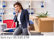 Купить «Middle-aged female employee being fired from her work», фото № 30935578, снято 12 декабря 2018 г. (c) Elnur / Фотобанк Лори