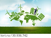 Купить «Concept of clean energy and environmental protection», фото № 30936742, снято 25 января 2020 г. (c) Elnur / Фотобанк Лори
