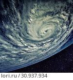 Купить «Typhoon over planet Earth - satellite photo. Elements of this image furnished by NASA.», фото № 30937934, снято 28 января 2020 г. (c) easy Fotostock / Фотобанк Лори