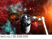 Купить «Cargo spacecraft - The Automated Transfer Vehicle over spiral galaxy. Elements of this image furnished by NASA.», фото № 30938050, снято 12 июля 2020 г. (c) easy Fotostock / Фотобанк Лори