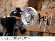 White desktop light , vintage office light - Стоковое фото, фотограф Zoonar.com/nad mah / easy Fotostock / Фотобанк Лори