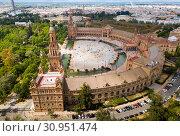 Panoramic view of Plaza de Espana (2019 год). Стоковое фото, фотограф Яков Филимонов / Фотобанк Лори