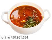 Купить «Russian meat soup Solyanka», фото № 30951534, снято 16 июня 2020 г. (c) Яков Филимонов / Фотобанк Лори