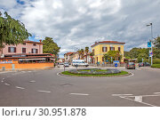 Городской пейзаж. Пореч. Хорватия (2019 год). Редакционное фото, фотограф Сергей Афанасьев / Фотобанк Лори