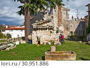Купить «Руины храма Нептуна. Пореч. Хорватия», фото № 30951886, снято 6 мая 2019 г. (c) Сергей Афанасьев / Фотобанк Лори