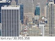 Cityscape. Rockefeller Center, large complex consisting of 19 commercial buildings in Midtown Manhattan. New York City (2019 год). Редакционное фото, фотограф Валерия Попова / Фотобанк Лори