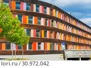 Купить «Environment and colorful facade of the Federal Environment Agency in Dessau», фото № 30972042, снято 5 августа 2018 г. (c) easy Fotostock / Фотобанк Лори