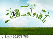 Купить «Concept of clean energy and environmental protection», фото № 30979786, снято 25 января 2020 г. (c) Elnur / Фотобанк Лори