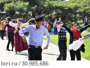 Купить «Pyongyang, North Korea. People», фото № 30985686, снято 1 мая 2019 г. (c) Знаменский Олег / Фотобанк Лори